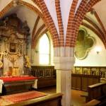033 Ląd, klasztor, zwornik wkapitularzu, fot_ A_ Jabłońska